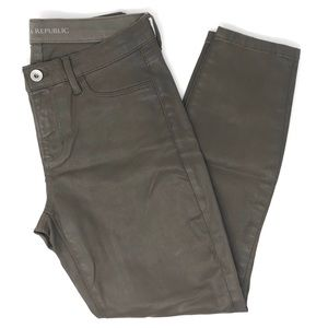 Banana Republic Petite Gray Coated Skinny Pants